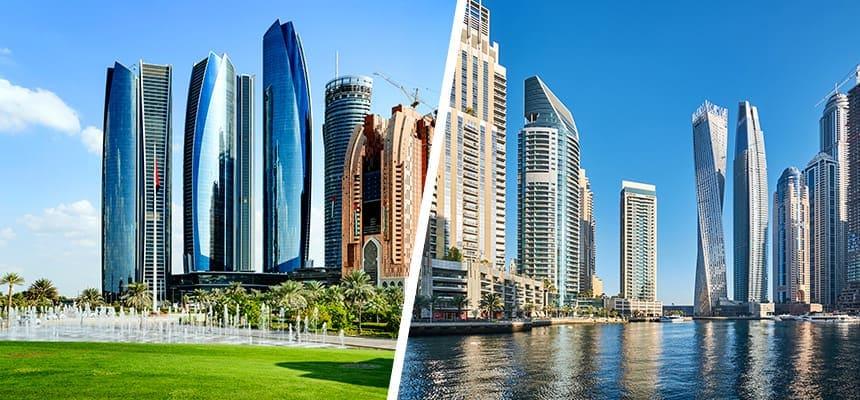 Abu Dhabi vai Dubai